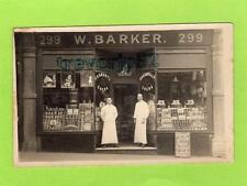 W Barker Grocer Shop Front RP pc unused  Cricklewood Broadway NW London Ref C291