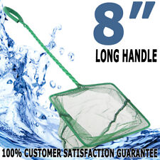 BioPro Aquarium Fish Tank Square Long Handle Large Nylon Net 8inch