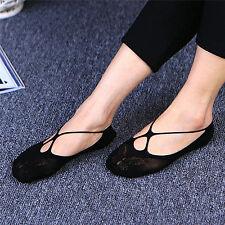 Women Girls Lace Cross Invisible Socks Low Cut Ankle Casual Socks Boat Socks SK
