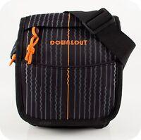 Kleine Schultertasche Umhängetasche MESSENGER BAG NEU UNISEX schwarz Tasche