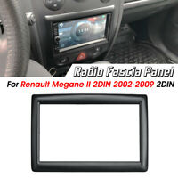 2 DIN Radio Stereo Fascia Panel Plate Adapter For Renault Megane II 2002-2009