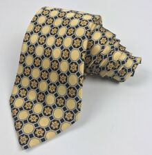 Burberry London yellow tie hand tailored Honeycomb Floral originally $225