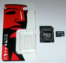 1 Used SanDisk 4.0GB MicroSDHC Memory Card and 1 New Kingston Adapter Guarantee