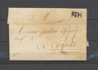 1769 Lettre Marque ATH Belgique superbe signée Baudot X4586