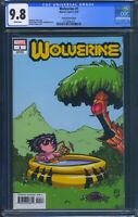 Wolverine 1 (Marvel) CGC 9.8 White Pages Chip Kidd Young Variant Cover