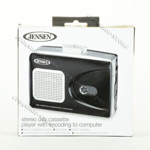 Jensen SCR-90 Stereo USB Cassette Player Built-in Speaker w/Encoding to Computer
