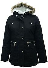 Size 26/28 Womens New Warm Black Parka Coat Ladies Long Jacket Read Description