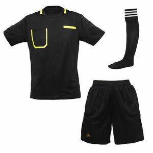 Football Referee Kit- Shirt, Shorts, Socks Uniform, Referee