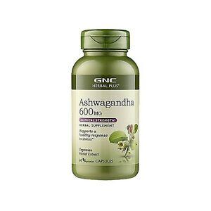 GNC Herbal Plus Ashwagandha 600mg 60 Capsules