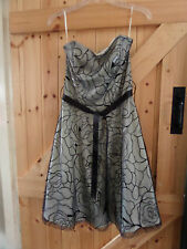 "Very Pretty Party Dress Size 12 By Jane Norman Chest 36"" Spider Web Net Black"