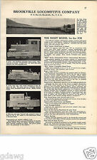 1940 PAPER AD Mining Brookville Locomotive o Caterpillar Diesel Engine Herrcules