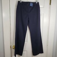 NWT LANDS END Size 6 - Fit 2 - Navy Blue Straight Leg Chino Pants Womens New