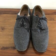Aston Grey Collection Castro Gray Dress Shoes Oxfords Union Mens Size 10.5
