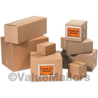 50 14x11x3 Shipping Packing Mailing Moving Boxes Corrugated Cartons Storage Box
