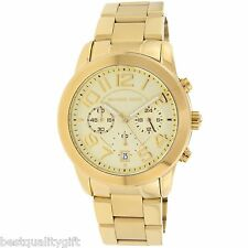 71421a1df1ad NEW-MICHAEL KORS MERCER GOLD TONE S STEEL+CHRONOGRAPH+DATE DIAL WATCH