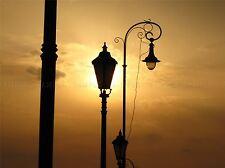 LANDSCAPE SUN LAMP SILHOUETTE POSTER ART PRINT HOME PICTURE BB73A