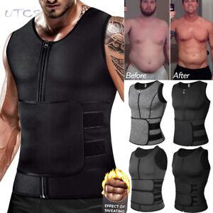 Men Body Shaper Waist Trainer Sauna Sweat Tank Underwear Fat Burner Shapewear US