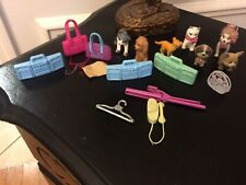 LOT Vintage Barbie Doll Accessories Pets Sunglasses Telephone Boom Box
