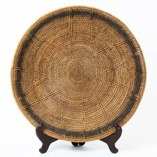 Large Wicker Hand Woven Native Craft Charger Basket 18-3/4