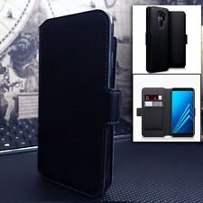 Low Profile Flip Cover Black Leather Book Case SAMSUNG GALAXY A71