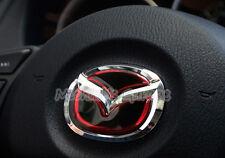 3D Mazda Steering Wheel Badge Emblem Logo Sticker 2 3 6 CX3 CX5 CX9 BT50 MX5 RF