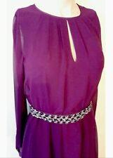 BNWT��Coast��Size 10 Magenta Anise Long Sleeve Maxi Dress Wedding Bridesmaid