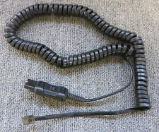 Plantronics 700212442 61804-01 Hip Black Coiled Adapter Cable For Avaya IP Phone