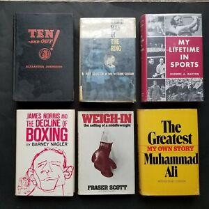 21 VINTAGE BOXING BOOKS 1927-2004 MUHAMMAD ALI SUGAR RAY LEONARD MARVIN HAGLER