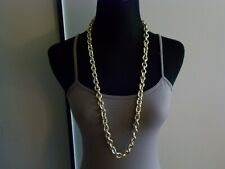 FASHION JEWELRY CHAIN NECKLACE ROPE LINKS 34""