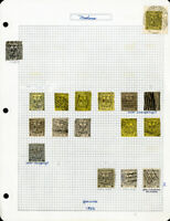Modena 1852 Genuine Stamp Collection of 17 Issues in Various Colors and Values