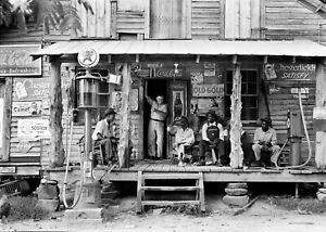 Country Store Sunday Afternoon Gordonton NC 1939 Lange Vintage Photo Reprint