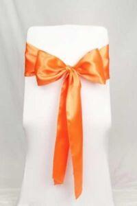 Chair Sashes - Orange Satin