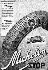 PUBBLICITA'1935 MICHELIN SUPER CONFORT STOP OMINO BIBENDUM PNEUMATICI GOMME AUTO