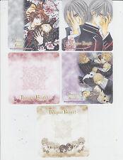 Japan Anime Memo Lot 5 Different Saiyuki Reload Vampire Knight Evangelion Ardour
