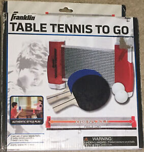 Franklin Sports Table Tennis To Go (6870Z) Read Description