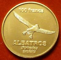 Kerguelen Islands 100 Francs 2011 UNC Albatros Bird unusual coinage
