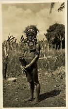new guinea, PORT MORESBY, Young Native Papua Warrior (1920s) Gibson RPPC