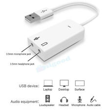 USB 2.0 3D Virtual 7.1 Channel Audio Sound Card Adapter for PC XP Windows 7