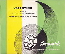 Valentino:The Loves And Times of Rudolph Valentino-1951-Soundtrack-10''Record LP