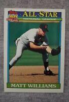 "1991 TOPPS DESERT SHIELD 399 MATT WILLIAMS All Star National League ""40 years""🥎"