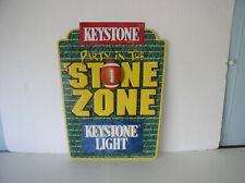 1997 Keystone Light Embossed Metal Sign 23 x 17 inches f new old stock