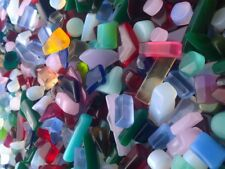 1/3lb ≈ 50pc Sea Glass UNDRILLED Freeform Bead Jewelry Craft Make Decor JCT Eco