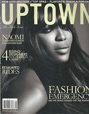Uptown magazine Naomi Campbell Rising designers Revamped rides Fashion tips