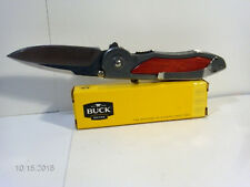RARE SIRUS BUCK KNIFE 297 ASSIST INLAYED ROSE WOOD HANDLES WITH BOX & PAPERS