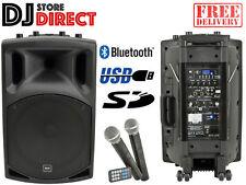 QTX QX12PA BLUETOOTH Portable PA System with Wireless Mics USB SD MP3 FM 178.853
