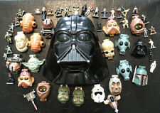 VINTAGE 90's STAR WARS MICRO MACHINES MINI HEAD LOT Darth Vader Luke Skywalker