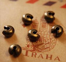 50x Kaschierperlen Verdeckperlen Crimp Cover DIY Basteln platinfarbig 5mm sz458