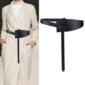 Wide Leather Corset Leisure Belt Female Bow Tie  for Lady Dress Waistband BeBDA