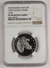 Canada 1995 $300 1 Oz Platinum Proof Coin NGC PF68 UC Wildlife Series - Lynx