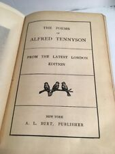THE POEMS OF TENNYSON From Latest London Edition 1907 W/Custom Cover A.L. Burt